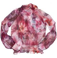 Блузка шифоновая бордовая с цветами, шоу-рум Fashion Land