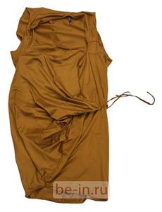 Асимметричное платье с драпировками, магазин JNBY