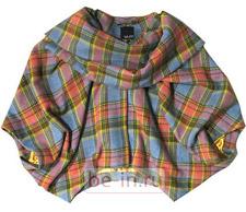 Женская клетчатая куртка оригинального покроя, mbyM, магазин Message
