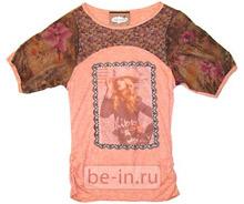 Женская футболка с принтами и вставками, Marmalade, магазин Must!Have
