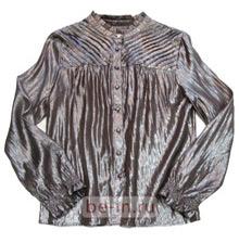 Блузка серебристая шёлковая с люрексом, Benedikte Utzon, шоу-рум TREND AVENUE