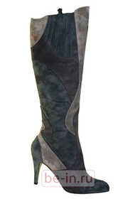 Замшевые сапоги на каблуках с аппликациями, Nando Muzi, магазин Апорина