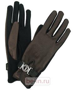 Женские перчатки с пряжками, Trussardi, магазин BIG BRAND!