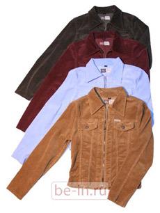 Женская вельветовая куртка на молнии, магазин Montana