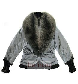 Женская зимняя куртка с меховым воротником, Salco, бутик Lola Konti Couture
