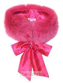 Ярко-розовый меховой воротник с бантом, Blugirl Folies, магазин Sport Version