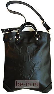Кожаная чёрная сумка на ремне, магазин КЛАТЧ
