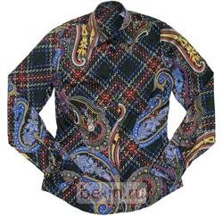Блузка в цветную клетку и «огурцы», Van Laack, бутик Trivium