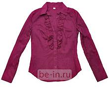 Блузка пурпурная с длинным рукавом, магазин Zolla