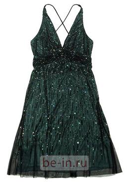 Вечернее тёмно-зелёное платье с блёстками, Barbara Schwarzer, бутик BaRo