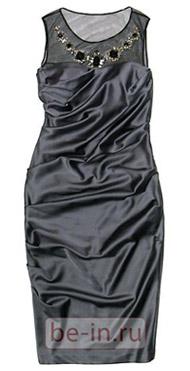 Вечернее серое платье с драпировками, Parosh, бутик Fashion Delicatesses