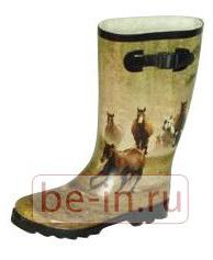 Резиновые сапоги с принтом «скачущие лошади», Интернет-магазин Raingoods.ru