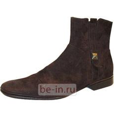 Мужские замшевые коричневые полусапоги, бутик FABI