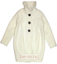 Женское молочно-белое пальто, Minimarket, Magazin Zing
