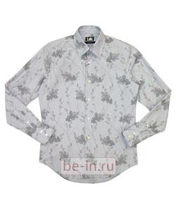 Серая мужская сорочка с цветочным принтом, Lab Pal Zileri, магазин MARCA