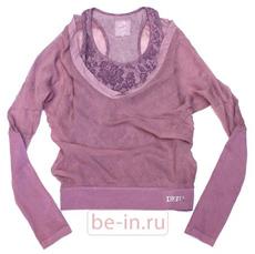 Спортивная двойная сиреневая блузка, Deha, магазин Vertigo