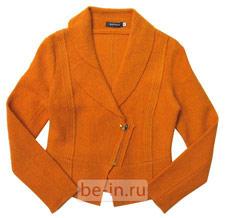 Жакет женский оранжевый шерстяной, магазин POMPA