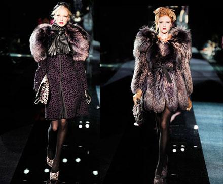 Лисы в моде: модные тенденции зимы  2009-2010