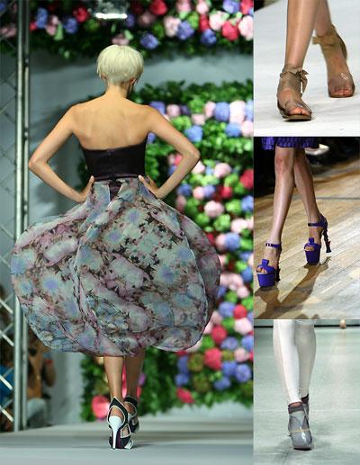 Крупные детали. Обувь весна-лето 2009. Модные тенденции весны и лета 2009