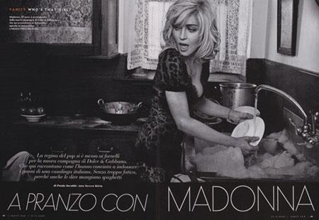 Madonna for Dolce & Gabbana Spring 2010
