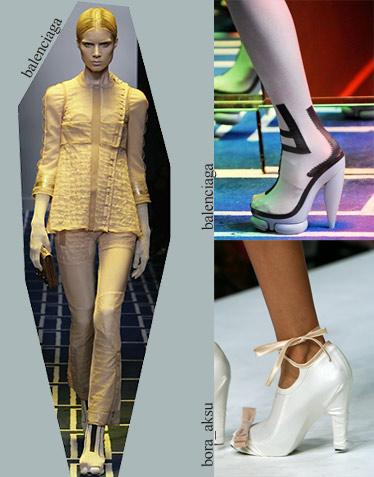 Обувь весна-лето 2009. Balenciaga. Bora Aksu. Тенденции моды весны-лета 2009