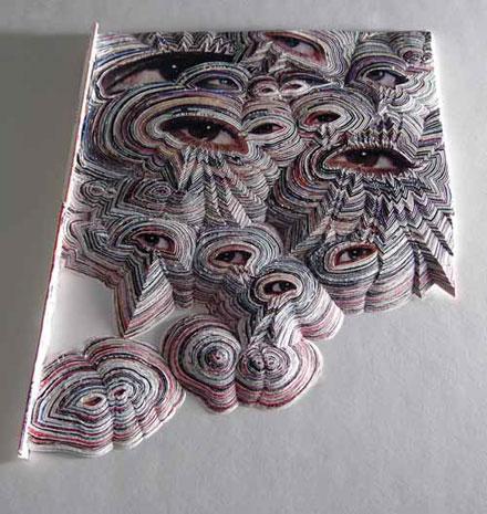 Nate Page. Бумажные скульптуры