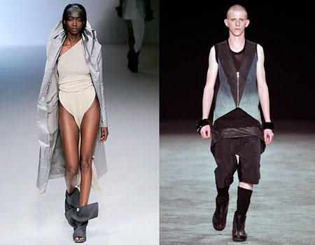 Тенденции моды 2009: мы готовы к войне. Одежда Rick Owens