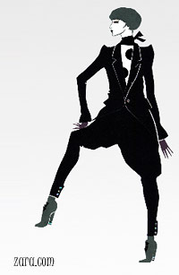 Магазин одежды ZARA: коллекция  одежды осень-зима 2008-2009