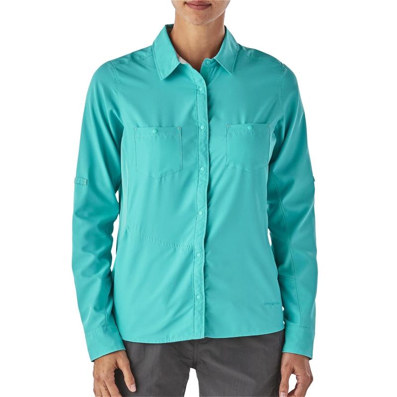 cb2524a71b8 Рубашка женская бирюзовая с карманами Patagonia 54260 купить за 6900 ...