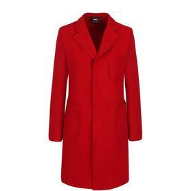 Однотонное шерстяное пальто с накладными карманами Comme des Garcons Comme des Garcons