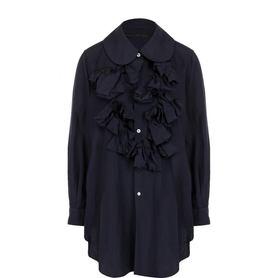 Однотонная блуза свободного кроя с оборками Comme des Garcons Comme des Garcons