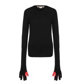 Шерстяной пуловер с круглым вырезом Comme des Garcons Comme des Garcons
