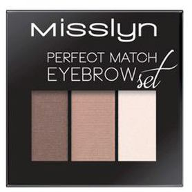 MISSLYN Набор для бровей Perfect match eyebrow set № 8 Misslyn