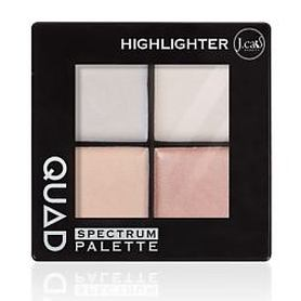 J. CAT BEAUTY Палетка хайлайтер для лица QUAD 101 Highlighter 6 г J.CAT Beauty