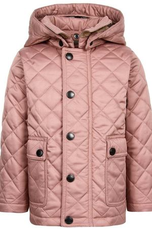 Удлиненная стеганая куртка Burberry Children 125379360 купить за 13290  рублей в интернет-магазине cbb25c5eda5