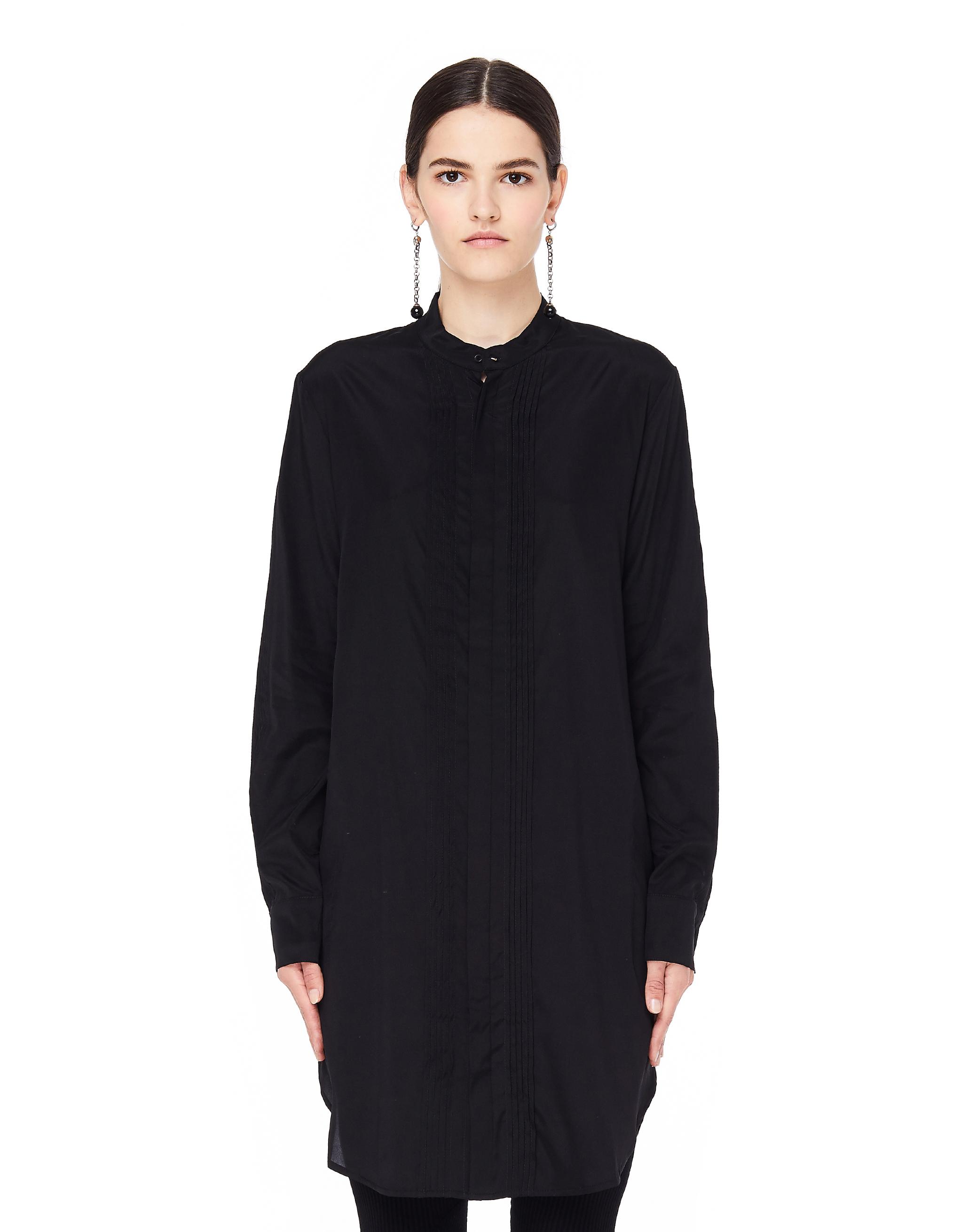 a521881991c Черная шелковая блузка Decoration A.F. Vandevorst 182decoration-001 ...