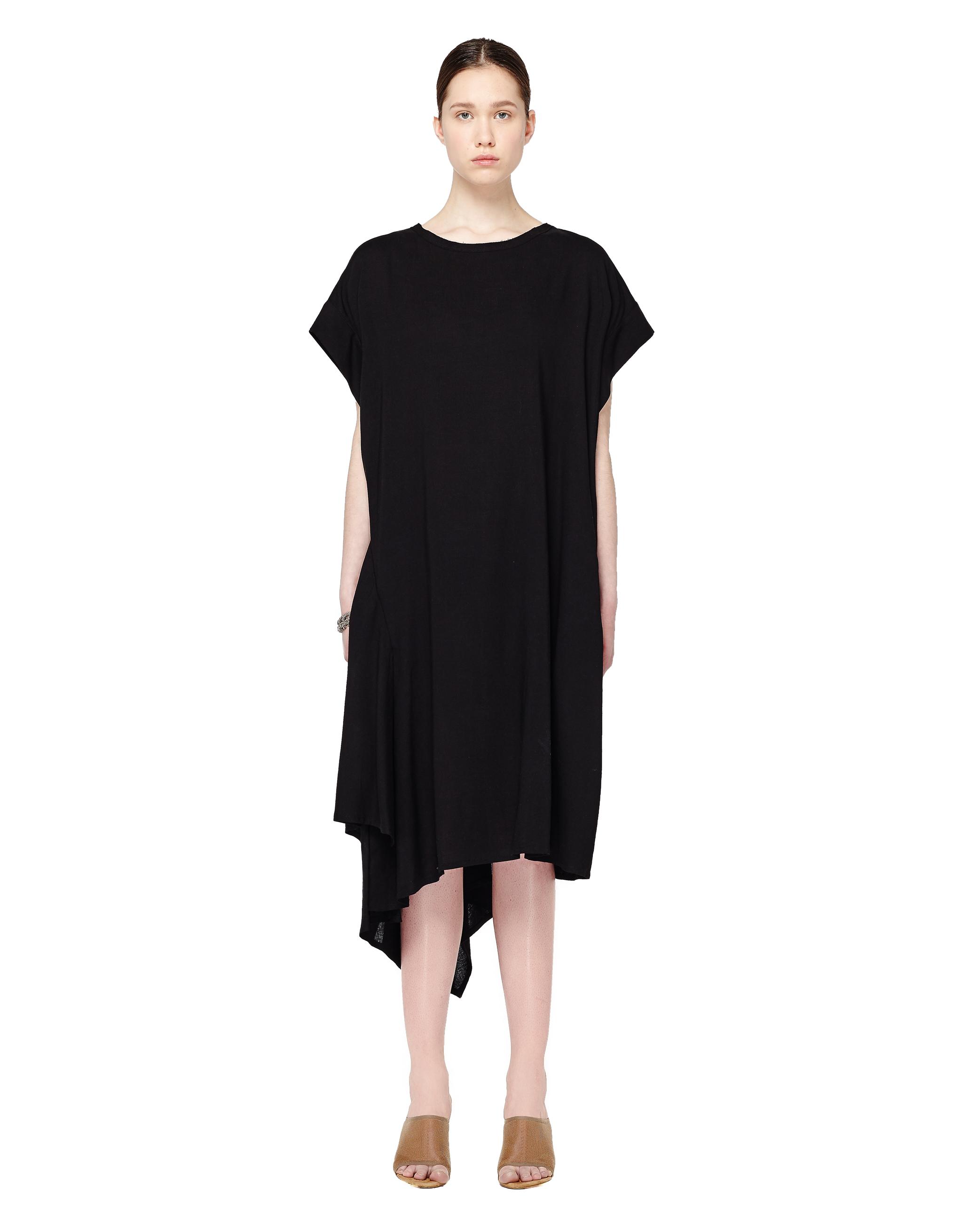 f1cd0ad3346b8b5 Асимметричное шерстяное платье Yohji Yamamoto NW-D02-200-1 купить за ...