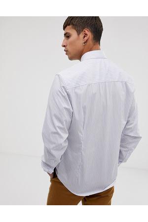 5133b1b2310 Белая приталенная рубашка в полоску с длинными рукавами Esprit - Белый