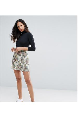 75af013f782 Гобеленовая юбка с цветочным рисунком Esprit - Мульти
