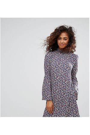 658f04cc182 Платье с цветочным принтом и расклешенными рукавами Esprit - Мульти