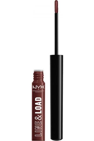 NYX PROFESSIONAL MAKEUP Помада с тонким аппликатором Line & Load All-in-one Lippie - Foolish Ways 08