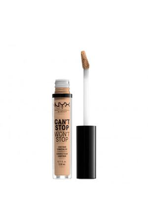 NYX PROFESSIONAL MAKEUP Стойкий жидкий консилер для лица Can't Stop Won't Stop Contour Concealer Natural