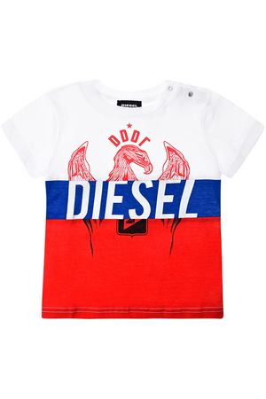 Футболка color block триколор Diesel детская