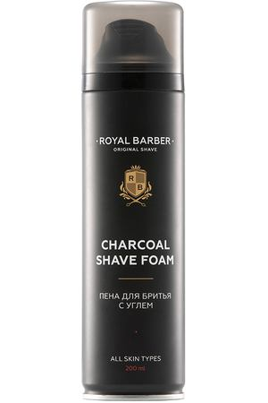 ROYAL BARBER Пена для бритья с углем