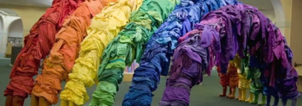 Guerra de la Paz: Recycling Clothing Art