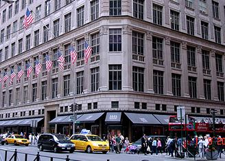 Универмаги мира: Saks Fifth Avenue, Нью-Йорк