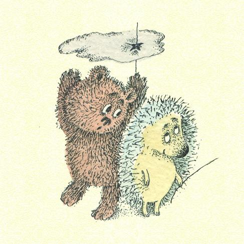 Прикольные картинки с ежиком и медвежонком, днем рождения