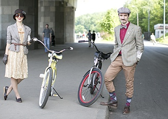 Tweed Ride Moscow: люди, велосипеды и твид