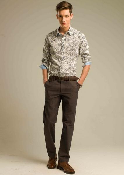 брюки мужские с защипами
