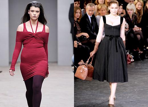 1. Модель Кристал Рэнн на показе Mark Fast fall 2010; 2. Актриса и модель Летиция Каста на показе Louis Vuitton fall 2010.